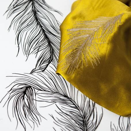 aurélia leblanc créatrice textile broderie motifs plume gilson